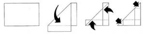 Pliage pour réaliser une papillote à insecte (Source : http://www.tela-insecta.net)