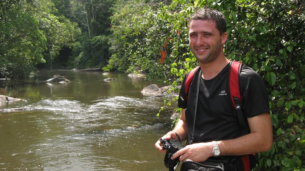 Moi en forêt guyanaise, station des Nouragues - 2009 (Source : Benoît GILLES)