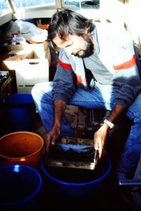 Claude Dejoux sur le terrain - Lac Titicaca