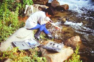 Relevés de paramètres physico-chimiques dans une rivière de la Cordillière