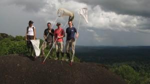Equipe au sommet de l'Inselberg