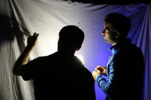 Moi et Adrien Thiercelin collectant un insecte