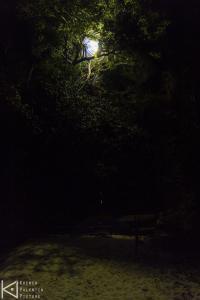 Piège lumineux vu du camp