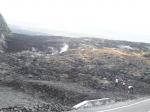Coulée de lave de 2007, encore fumante